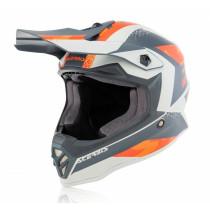 Acerbis Helm Steel Junior orange-grau