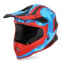 Acerbis Helm Steel Junior rot-blau