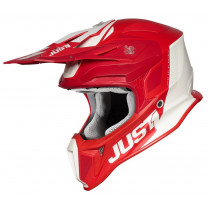 Just1 Helm J18 Pulsar rot-weiß matt